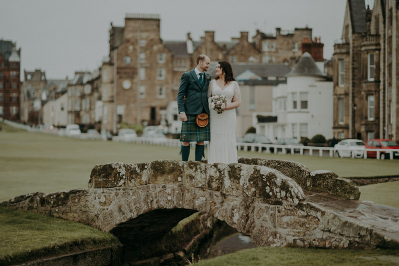 Scottish wedding  at the Old Course